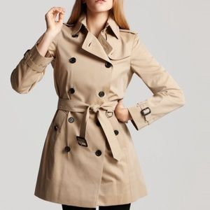 Zara Basic Double Breasted Trench Coat with Belt S